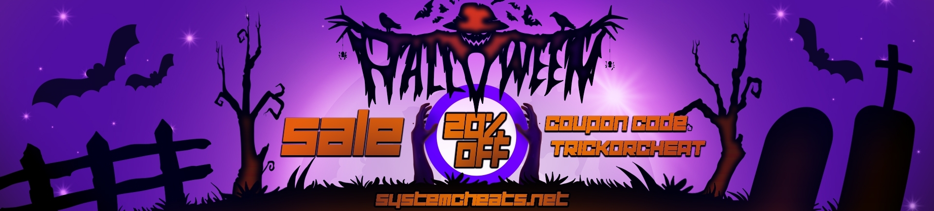Halloween Sale 20% discount! (Expired)
